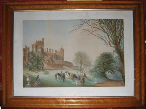 Belvoir Castle. H.R.H. The Prince of Wales accompanied by the Princess of Wales and attended by His Grace the Duke of Rutland , Lord John Manners, The Lady Adeliza Norman &c. &c.