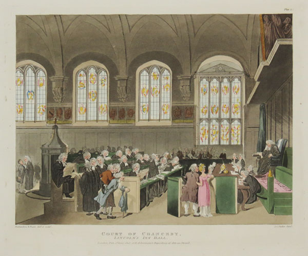 Court of Chancery, Lincoln's Inn Hall.