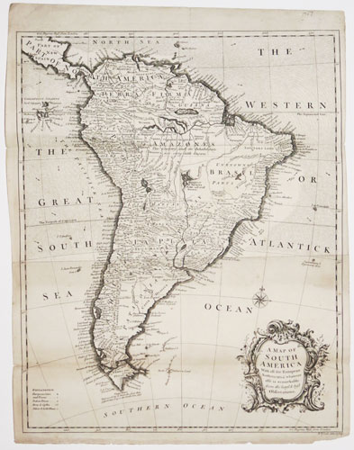 A Map of South America With all the European Settlements