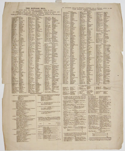 The Reform Bill. (Given, with The News on Sunday, April 24, 1831.)