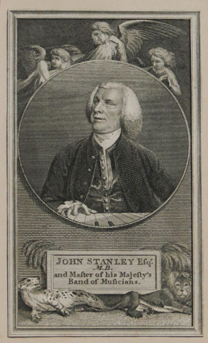 John Stanley Esq.r M.B. and Master of his Majesty's Band of Musicians.