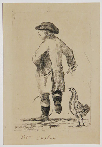 [George Onslow as a cock-fighter]