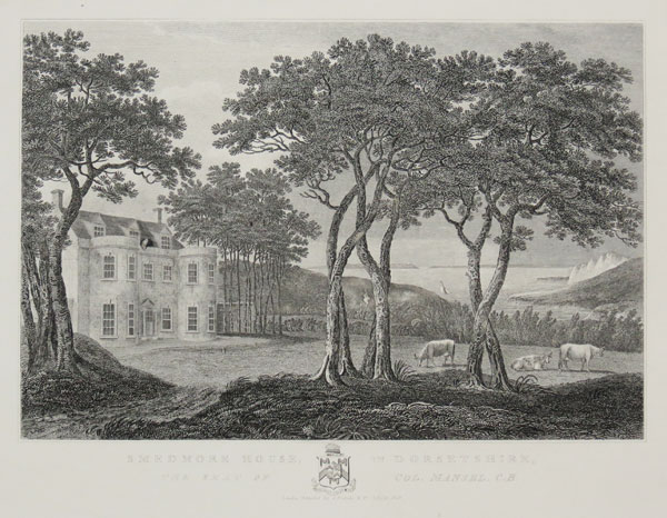 Smedmore House, in Dorsetshire, The Seat of Col. Mansel, C.B.