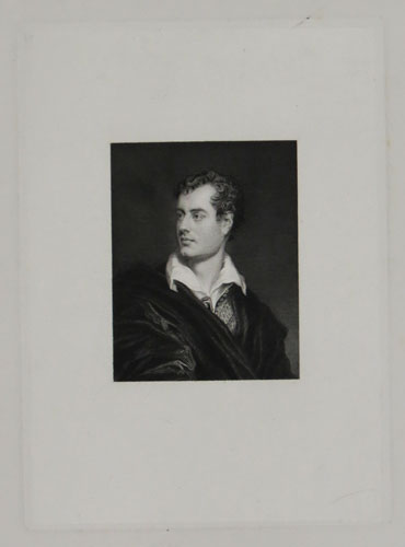 Lord Byron after Phillips, 1831 [ms in lower margin]