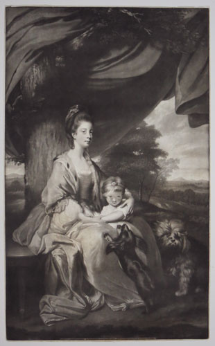 [Elizabeth, Duchess of Buccleugh, with her daughter Lady Mary Scott]