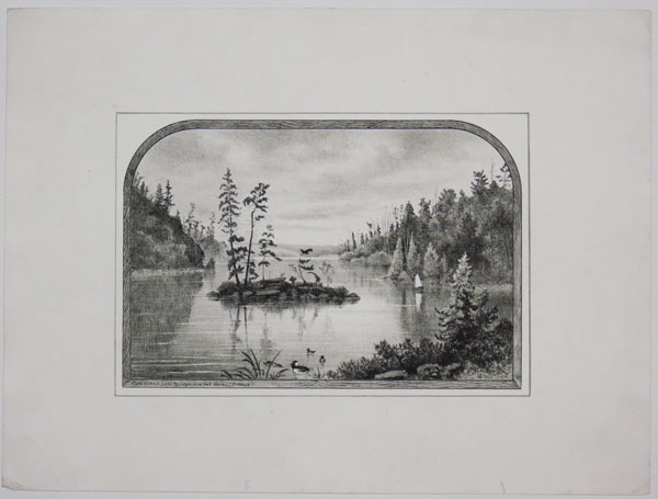 Flora Island, Lake Rosseau, from Oak Island (Dr. Hall's).