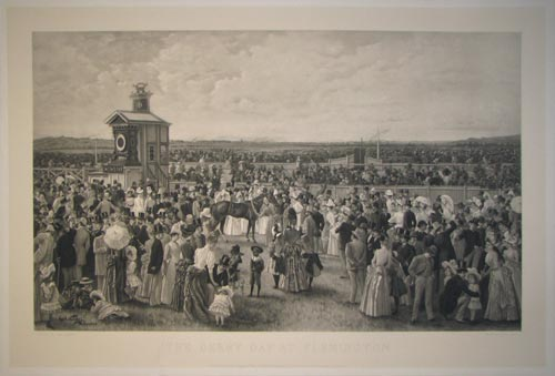 The Derby Day at Flemington.