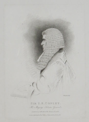 Sir J.S. Copley. His Majesty's Solicitor General.