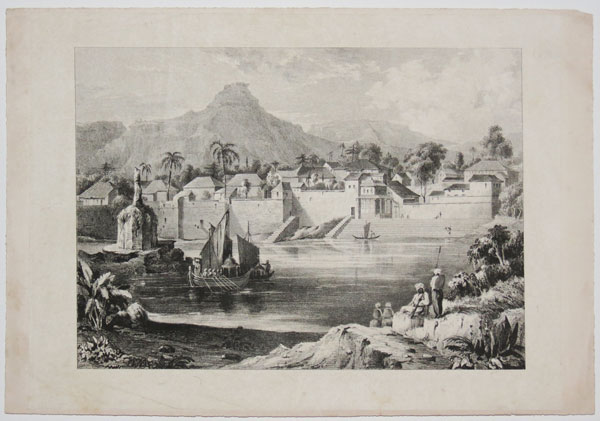 [Town of Wall, and Hill Fort of Pandoghar.]