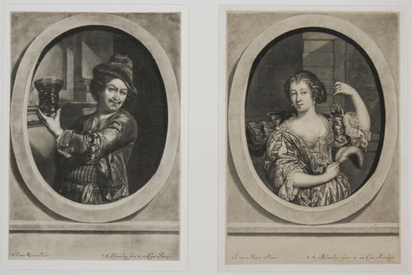 [Portraits of Jan van Mieris and his wife.]
