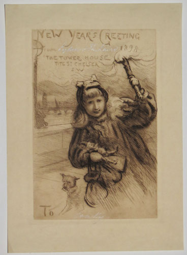 New Year's Greeting. 1898. The Tower House Tite St. Chelsea SW.
