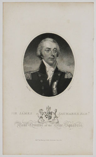 Sir James Saumarez Bart. Rear Admiral of the Blue Squadron.