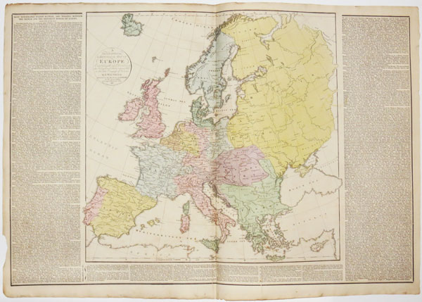 A Geographical & Historical Map Of Europe Exhibiting the new Divisions of it's Kingdoms & States agreeably to the late Congress of Vienna.