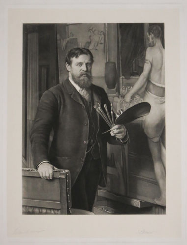 [Lawrence Alma-Tadema, R.A., in his studio]