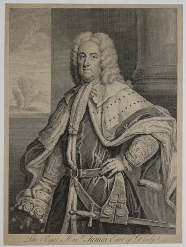 The Right Hon.ble. James Earl of Derby.