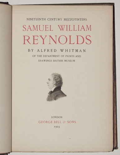 Nineteenth Century Mezzotinters.  Samuel William Reynolds.