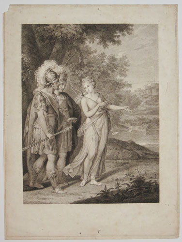 [Set of three prints in various states.] Venus shewing Aeneas the Road to Carthage.