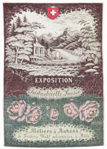 [Silk sample.] Exposition Industrielle Suisse.