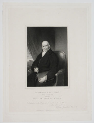Benjamin West, Esq.r President of the Royal Academy in London: