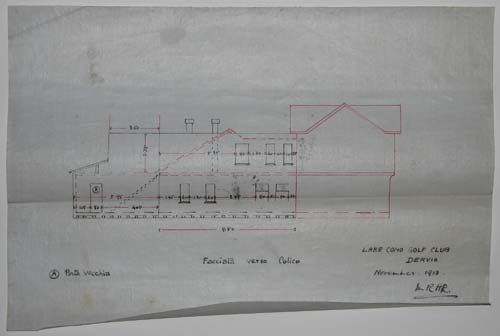 [Eight manuscript plans, elevations and architectural details relating to Lake Como Golf Club Dervio.]