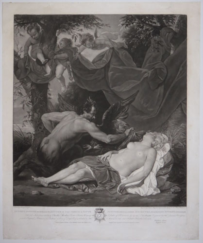 Antiope, Sleeping, Suprized by Jupiter in the Form of a Satyr.  Jupiter sous la Forme d'un Satyre, Suprenant Antiope Endormie.