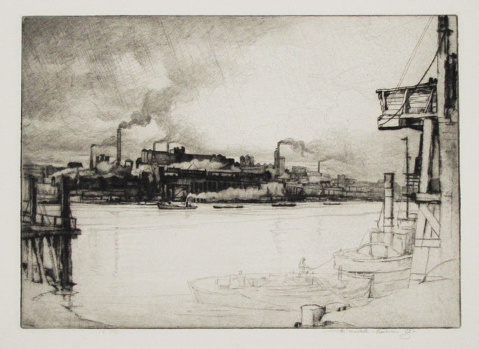 [Factories on the Thames.]