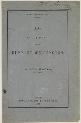 Ode of the Death of the Duke of Wellington.