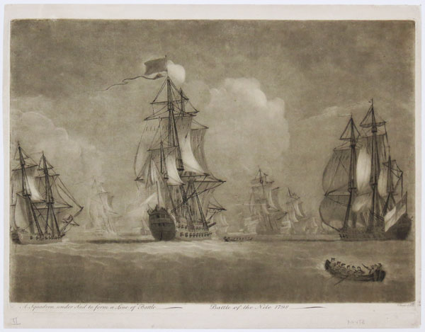 A Squadron under Sail to form a Line of Battle / Battle of the Nile 1798.