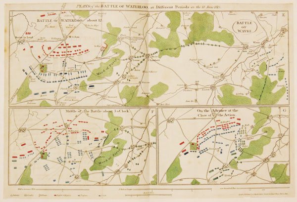 Plans of the Battle of Waterloo, at Different Periods on the 18th June 1815.