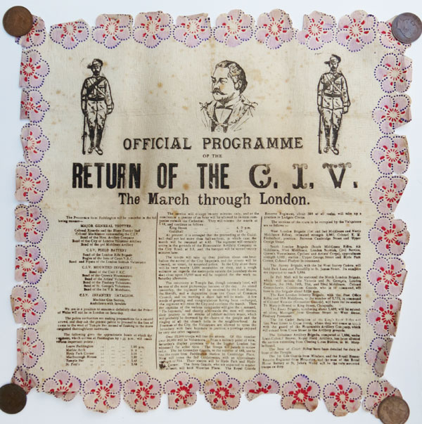 Official Programme of the Return of the C.I.V.  The March through London.