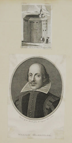 William Shakespeare [&] The Globe on BankSide Where Shakespere Acted.