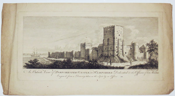 An Outside View of Portchester Castle, in Hampshire. Dedicated to the Officers of the Militia.