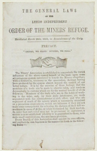 The General Laws of the Leeds Independent Order of the Miners' Refuge.