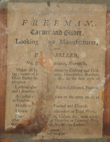 Freeman, Carver and Gilder, Looking [Gl]ass Manufacturer, and P[rint]-Seller,