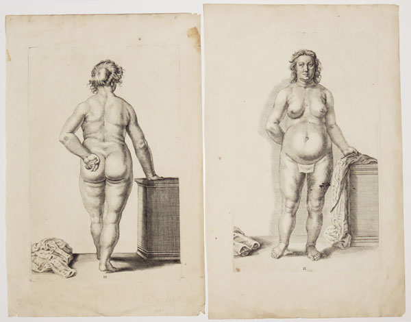 [Pair of studies of a nude woman.] II. [&] III.