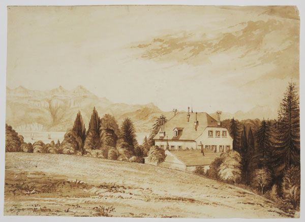 [Country House Scottish Landscape.]