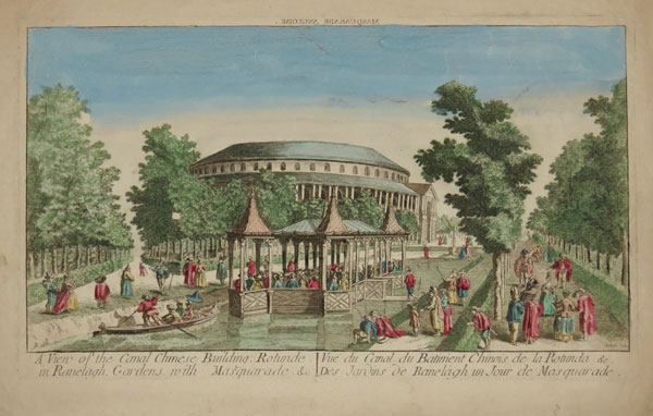 A View of the Canal Chinese Building, Rotunde, in Ranelagh Gardens, with Masquerade &c.