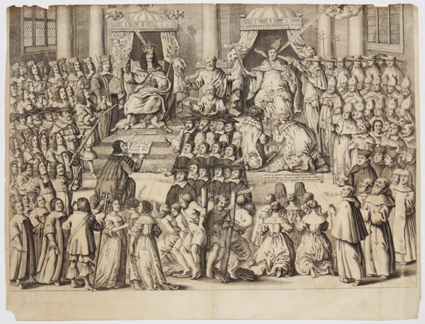 [A satire comparing the sovereign power of Charles II and Pope Alexander VII.