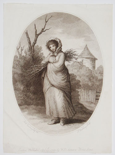 [Woman carrying twigs.]