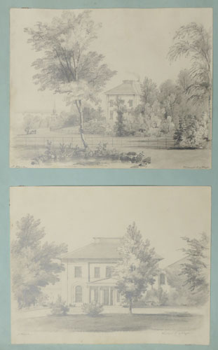 [Sheet of sketches of Westmont, Isle of Wight]