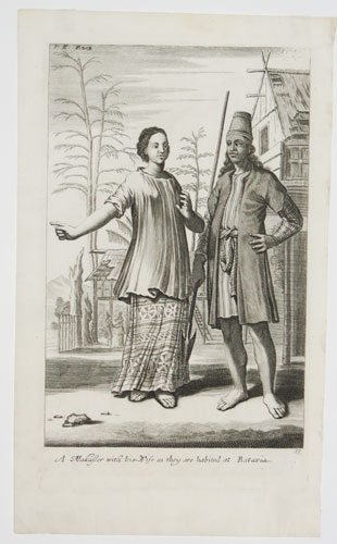 A Makasser with his Wife as they are habited at Batavia.