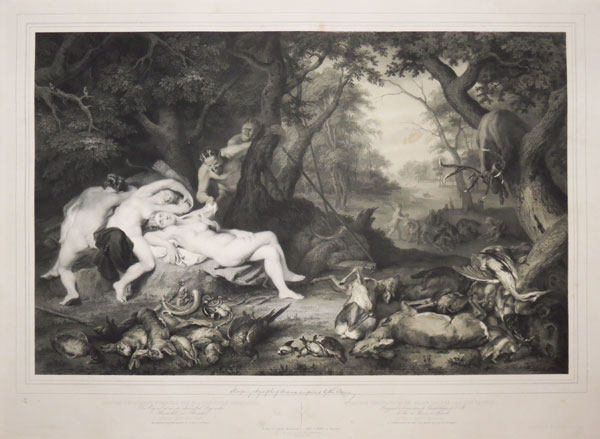 [Sleeping Nymphs of Diana.]