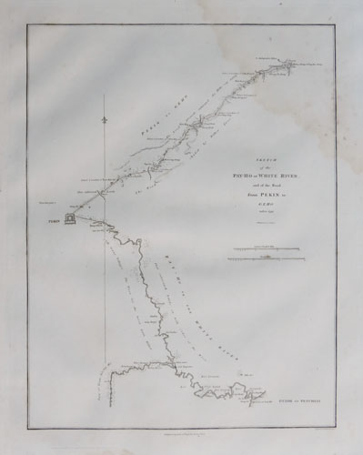 A Sketch of the Pey-Ho or White River, and of the Road from Pekin to Geho taken in 1793.
