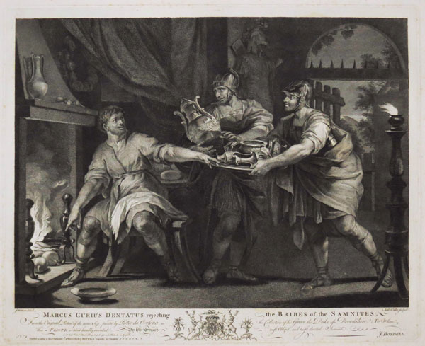 Marcus Curius Dentatus rejecting the Bribes of the Samnites.