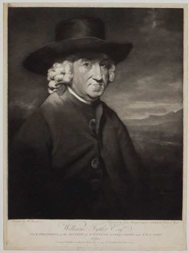 William Tytler Esq Vice President of the Society of Scottish Antiquaries and F.R.S. Edin. 1790.