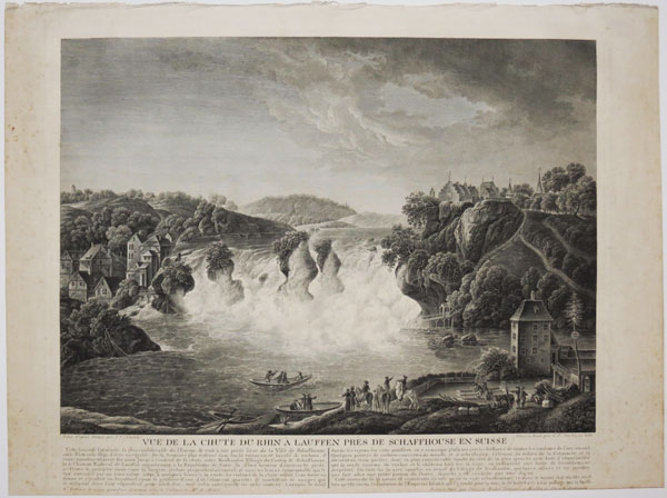 [The Rheinfall waterfall near Schaffhausen]