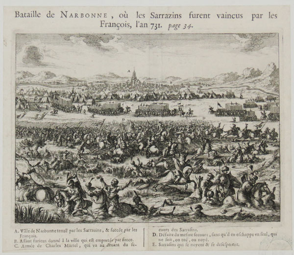 [French victory over the Saracens in the Battle of Narbonne, 731]