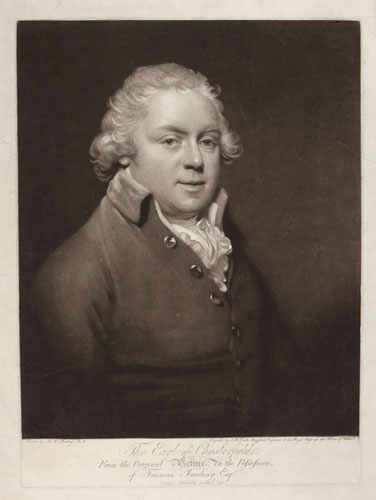 The Earl of Chesterfield,