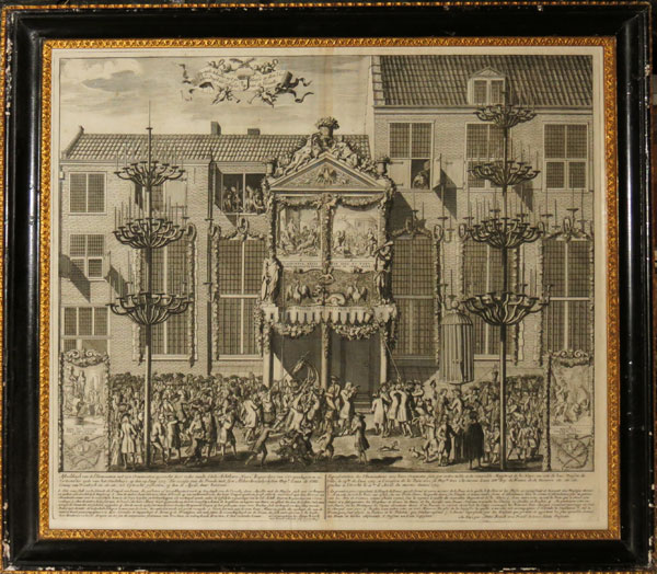 [Decorations at The Hague, celebrating the Treaty of Utrecht, 1713.]