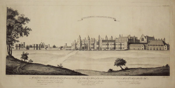 A View of Hampton Court as finished by K. Henry VIII.